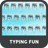 Pure Blue  Water Droplets  Keyboard Theme icon