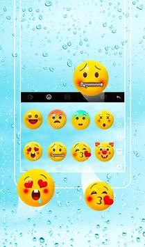 Pure Blue  Water Droplets  Keyboard Theme screenshot 3