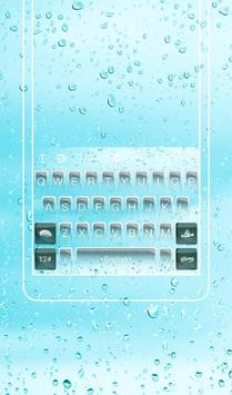 Pure Blue  Water Droplets  Keyboard Theme poster