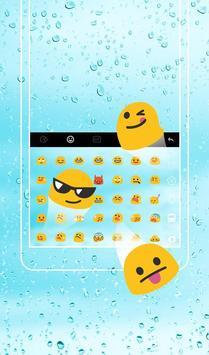 Pure Blue  Water Droplets  Keyboard Theme screenshot 1