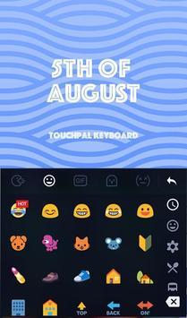 5th Of August Keyboard Theme apk screenshot