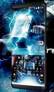 Blue Hercules Keyboard Theme screenshot 1