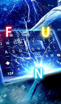 Blue Hercules Keyboard Theme screenshot 2