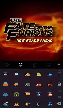 Fate of Furious Keyboard Theme apk screenshot