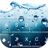 3D Blue Water Screen Droplets Keyboard Theme icon