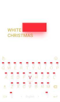 White Christmas Keyboard Theme apk screenshot