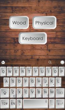 Wood Physical Keyboard Theme poster