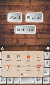 Wood Physical Keyboard Theme apk screenshot