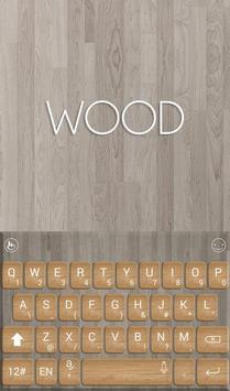 Pure Brown Wood Keyboard Theme apk screenshot
