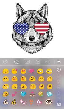 American Wolf Keyboard Theme apk screenshot