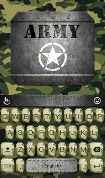 Army Soldier Keyboard Theme poster