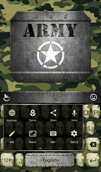 Army Soldier Keyboard Theme apk screenshot