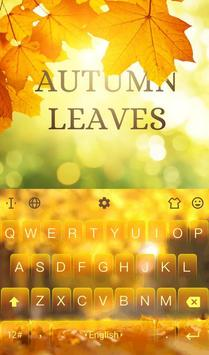 3D Animated Autumn Leaves Keyboard Theme poster