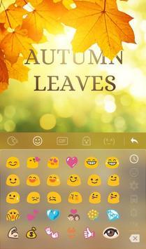 3D Animated Autumn Leaves Keyboard Theme screenshot 2