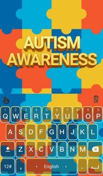 Autism Awareness Keyboard poster