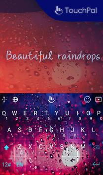 Beautiful Raindrops Keyboard apk screenshot