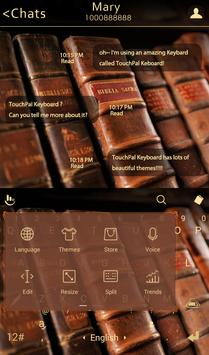TouchPal Books Keyboard Theme apk screenshot