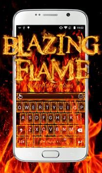 Blazing Flame Keyboard Theme poster