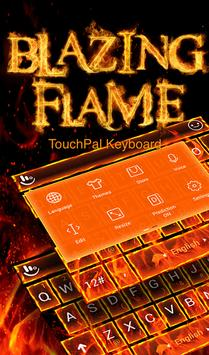 Blazing Flame Keyboard Theme apk screenshot