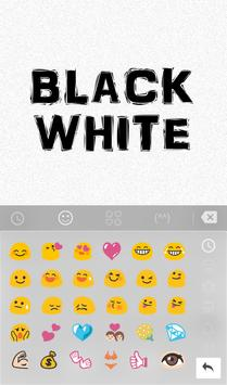 TouchPal Black White Keyboard apk screenshot