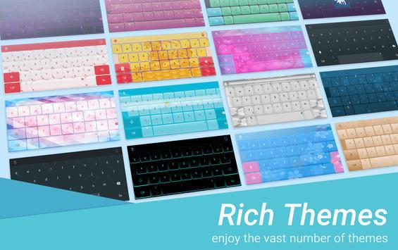 Blue Matrix Keyboard Theme apk screenshot