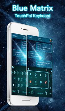 Blue Matrix Keyboard Theme poster