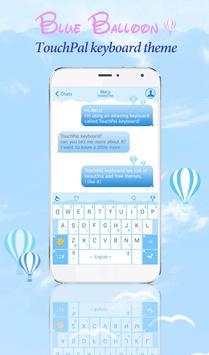 TouchPal Blue Balloon Theme poster