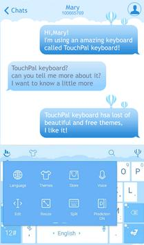 TouchPal Blue Balloon Theme apk screenshot