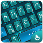 Simple Blue Black Future Tech Keyboard Theme APK