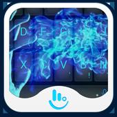 Blue Fire Keyboard Theme icon
