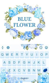 Blue Flower Keyboard Theme poster
