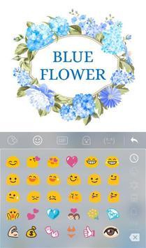Blue Flower Keyboard Theme apk screenshot