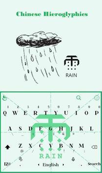 Chinese Character Rain Theme apk screenshot