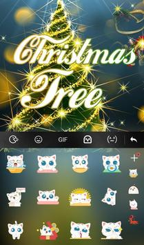 Live 3D Christmas Tree Keyboard Theme screenshot 3