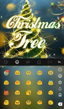 Live 3D Christmas Tree Keyboard Theme screenshot 2