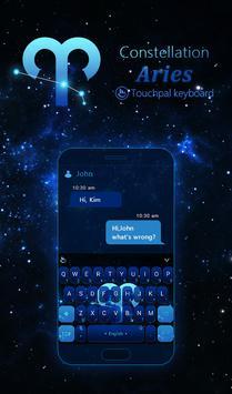 Star Blue Aries Keyboard Theme poster