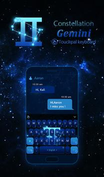 Constellation Gemini Keyboard poster