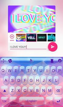 Color Crystal Light Keyboard Theme apk screenshot