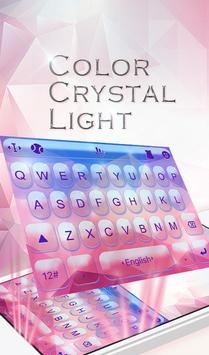 Color Crystal Light Keyboard Theme poster