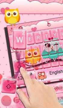 Colourful Owl Keyboard Theme poster