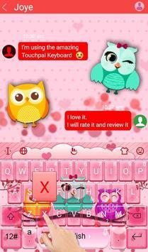 Colourful Owl Keyboard Theme apk screenshot