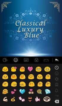 Classical Luxury Blue Keyboard Theme apk screenshot