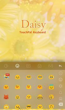 Daisy Emoji Keyboard Theme apk screenshot