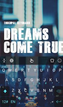 Dream Come True Keyboard Theme screenshot 1
