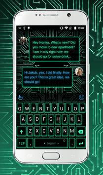 Electric Neon Keyboard Theme poster