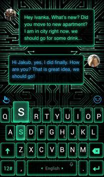 Electric Neon Keyboard Theme screenshot 1
