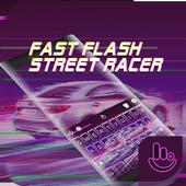 Fast Flash Street Racer Keyboard Theme icon