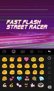 Fast Flash Street Racer Keyboard Theme apk screenshot