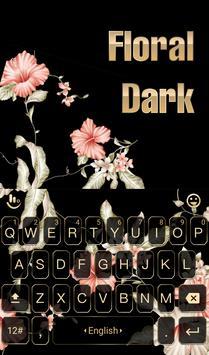 Floral Black Keyboard Theme 海報