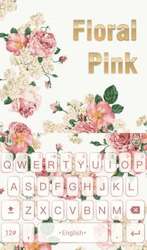 Floral Light Keyboard Theme poster